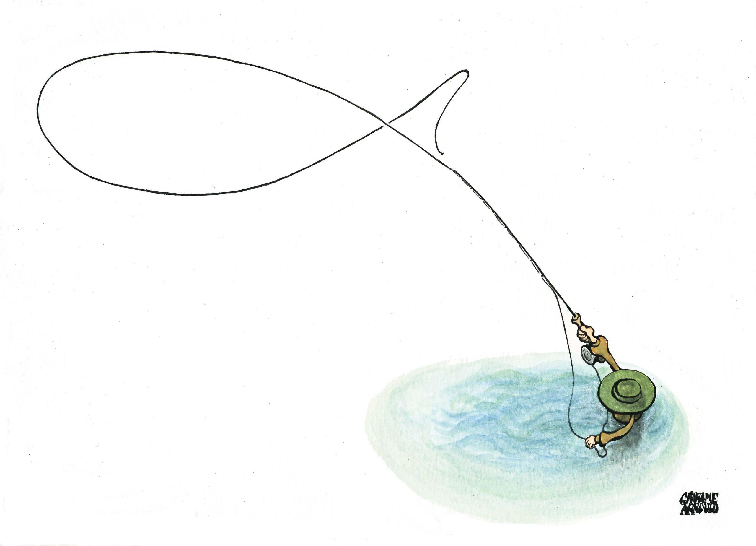 Flyfishing fish